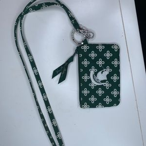 Vera Bradley Michigan State Lanyard and ID Wallet
